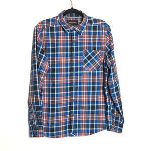 Marmot plaid button up shirt